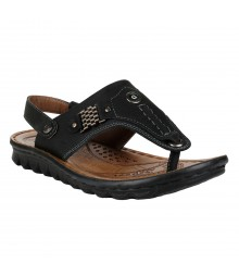 Cefiro Black Sandal for Men - CSD0007